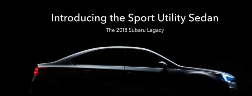 The 2018 Legacy, Our Sport Utility Sedan